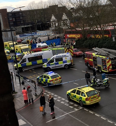 Five Mowed Down By Car In South London