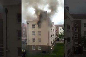Seventy Fire Fighters Tackle Flat Fire Ball In Bethnal Green