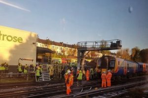 One Person Hurt 300 Passengers Evacuated  Following Train Derailment At Wimbledon