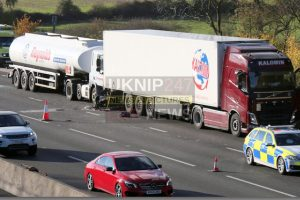 Six Vehicle Collision Closes Three Lanes On M25 Motorway Near Godstone