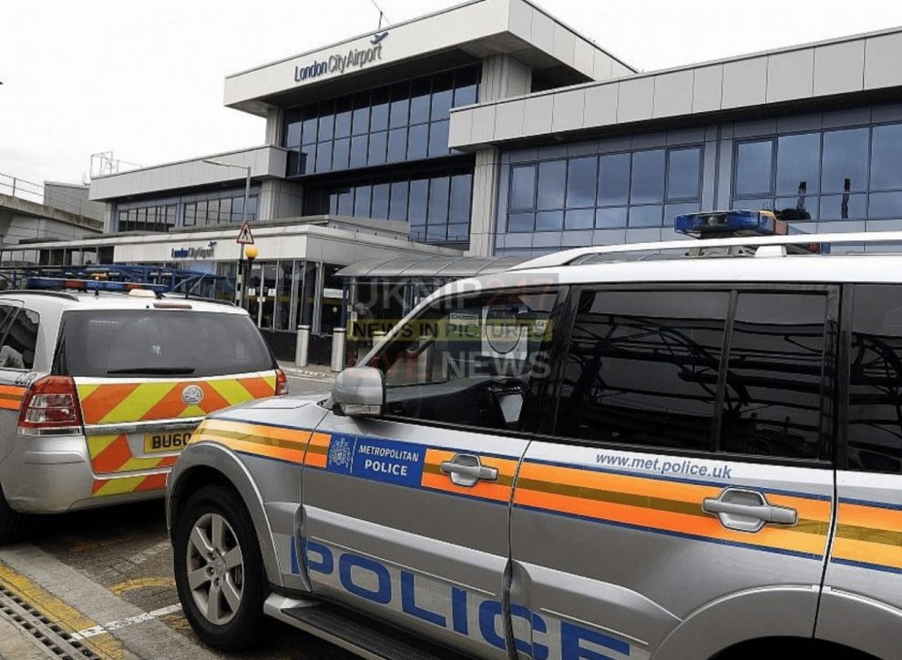 Police And Royal Navy Continue Removal Of World War Ii Ordnance London City Airport Remains Closed