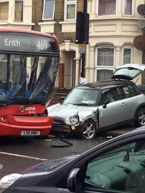 Car Ploughed In To Bus In Plumstead