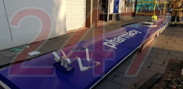 Two Rushed To Hospital After Signage Knocks Them To The Ground