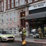 Fire Crews Called To Tackle Fire On Baker Street In London