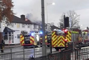 Six Fire Crews Tackle House Ablaze In Gants Hill