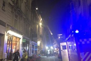 Fire Crews Battle Blaze At Law Society
